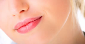 Woman's lips - electrolysis