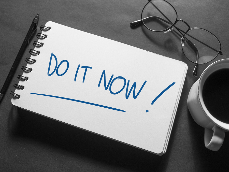 """Savings on Pre-Paid Packages Notepad with """"Do It Now!"""" written on it."""