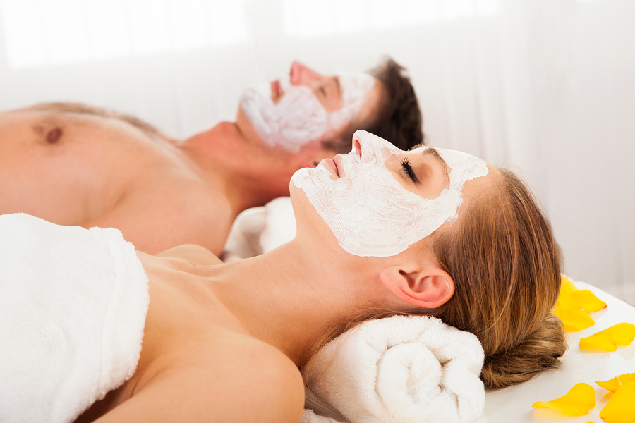 Sweet Specials Offered  Couple getting a Mask Treatment